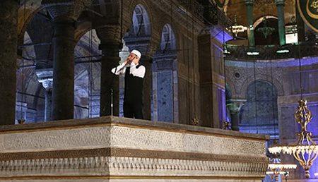 Il canto del muezzin ad Ayasofya