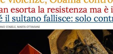 La stampa italiana e il golpe in Turchia