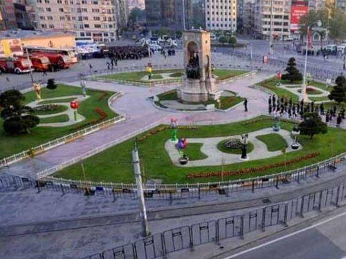 I lavori di piazza Taksim