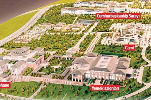 La biblioteca del palazzo di Erdoğan
