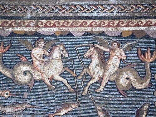 Il mosaico di Eros che pesca (in Turchia)
