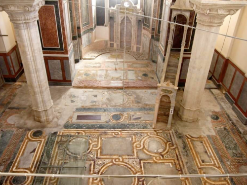 Il Pantokrator restaurato nasconde i suoi marmi
