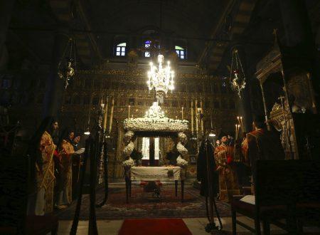 La Pasqua ortodossa a Istanbul, l'epitaffio