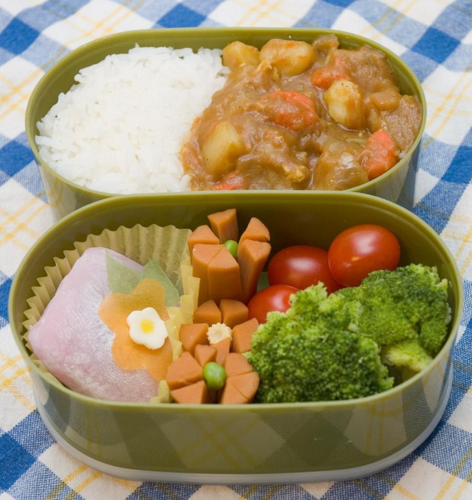 Curry rice bentō