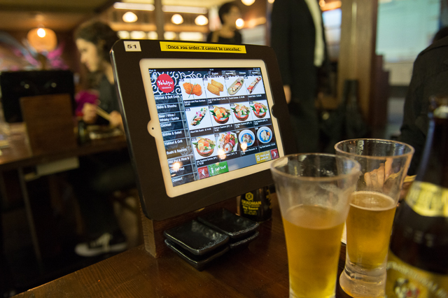 Izakaya touch screen