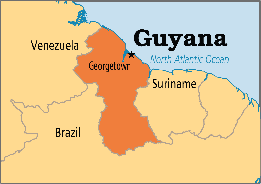 Image result for map of georgetown guyana